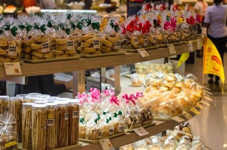 asian produce: Food street vendors in Bangkok, Thailand