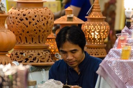 Clayware street vendors in Bangkok, Thailand Stock Photo - 22746080