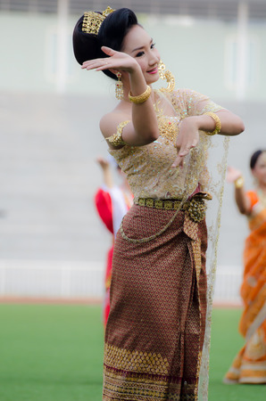 The traditional Asian dance performed at Chulalongkorn university on 22 March 2014
