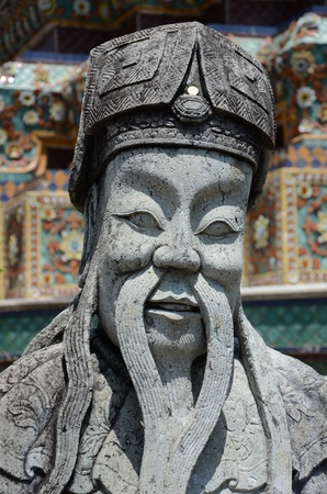 male likeness: Escultura china Foto de archivo