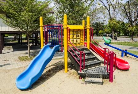 Colorful Playground in a park photo