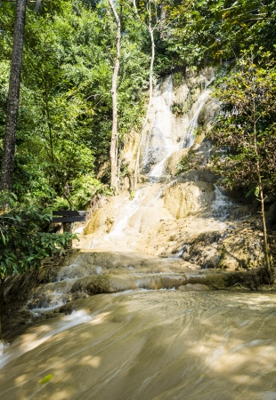 Sai Yok Noi Waterfall in Kanchanaburi, Thailand  photo