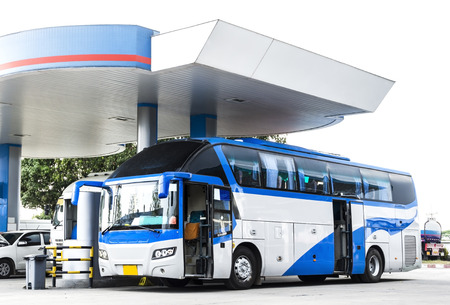 refueling: Bus in Refueling station