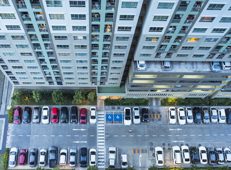 high rise building: High rise building from top.