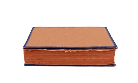 General view of the old book on a white background in folded form photo