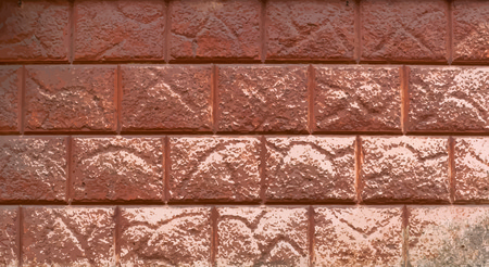 rectangular piece of decorative finishing outer walls of the building brown tone