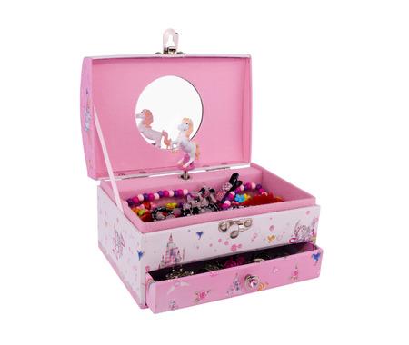 barrettes: Carillon di colore rosa per bambini con gioielli, isolato su sfondo bianco