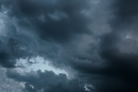 foretelling: Storm dark gray clouds in the sky foretelling rain Stock Photo