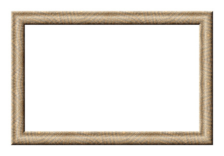 Rectangular Frame for pictures with a mesh texture light brown tones photo
