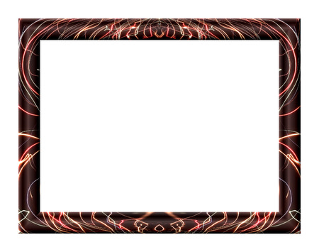 curvature: Rectangular frame with abstract texture, optical illusion is not large curvature of the vertical sides