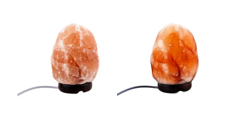 salt lamp: Electric household salt lamp isolated on white background