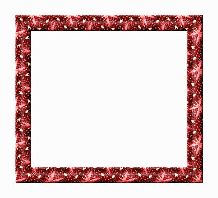 photos of pattern: Blank photo frame with embossed texture pomegranate isolated on white background