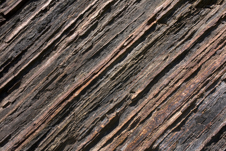 stria: General view of the relief texture of shale rock with diagonal stripes