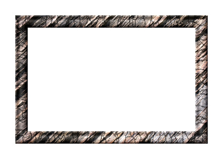 schist: Rectangular blank embossed photo frame with textured slate on a white background