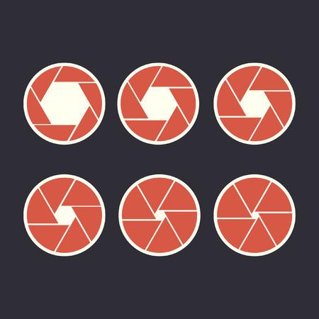 Diaphragm steps flat icon infographic design