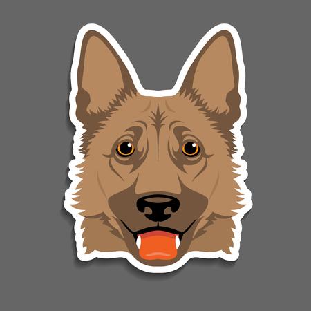 German shepherd dog  head portrait magnet, sticker, key chain idea