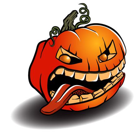 cucurbit: Spooky Halloween Pumpkin Illustration