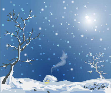 hillock: Christmass country - vector image