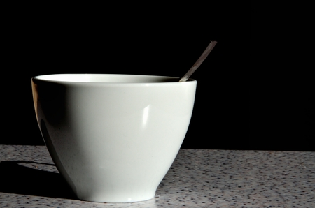coffee spoon: Cup and coffee spoon