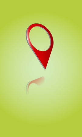 hint: 3D logo, hinter, pointer, place on the map
