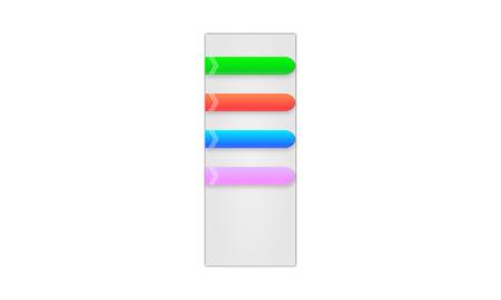 colores pastel: barra de menú en colores pastel con las flechas, la reflexión y sombras