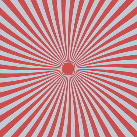 kamikaze: Rounded sun rays in red and grey colors, japan Illustration