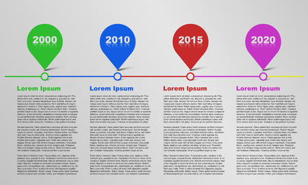 Time line infographic, infographics, bubble infographic, text infographic, timeline infographic with reflection