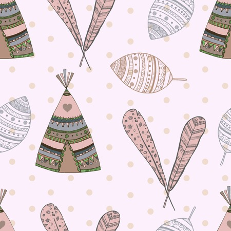 ethnic seamless pattern design. illustration