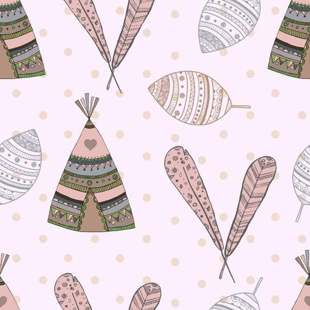 ethnic seamless pattern design. illustration