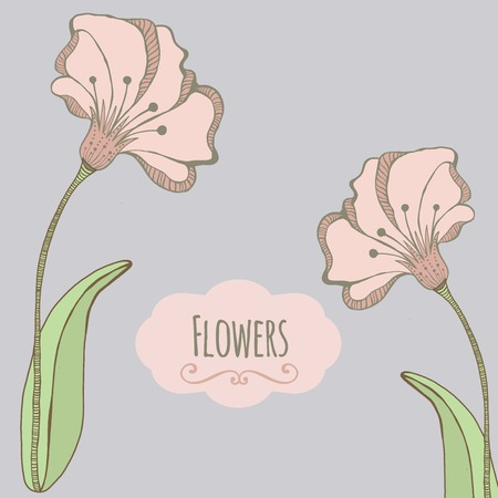stamen: Beautiful greeting card .Happy mothers day. Bright illustration, can be used as creating card,invitation card for wedding,birthday and other holiday and cute  background. Illustration