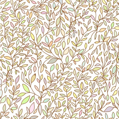 brunch: Brunch nature hand drawn seamless pattern  pastel Illustration