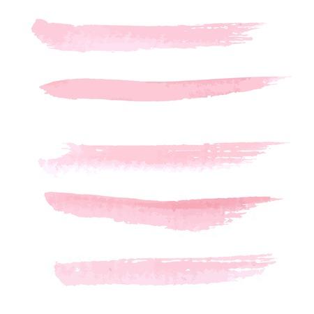 brushstroke: Hand drawn pastel  pink color watercolor brushstroke line