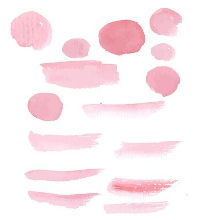 muddy: Hand drawn pink paint brushstroke watercolor Illustration
