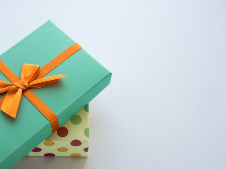 Wrapped vintage gift box Foto de archivo