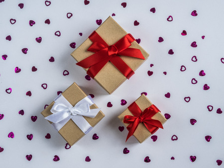 Wrapped vintage gift box Stock Photo