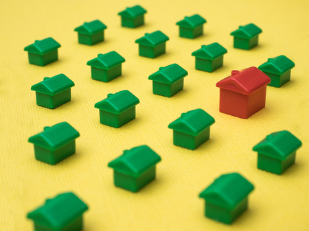 Row of houses, illustration for real estate Stock Photo