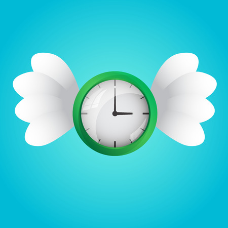time flies: Time Flies, a flying a clock with white wings