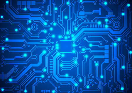 electronic circuit: circuit board background Illustration