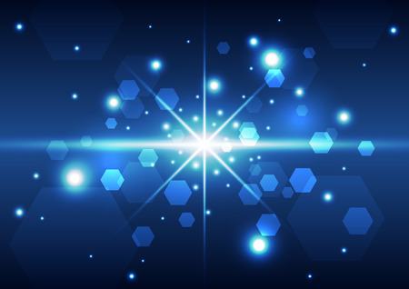 Abstract technology space background, vector illustration Vector
