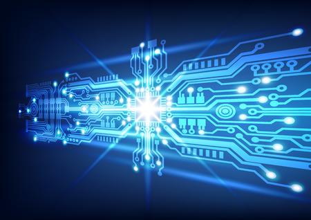 circuito electrico: tecnología de placa de circuito de fondo