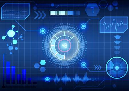 Modern virtual technology background interface