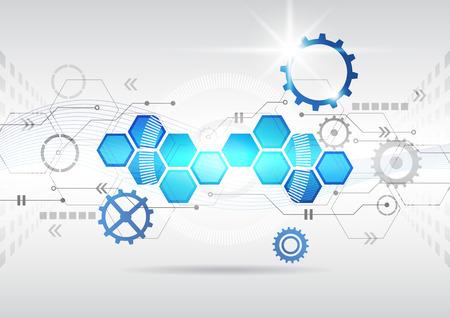 astratto futuristico circuito di computer ad alta tecnologia sfondo di affari Vettoriali