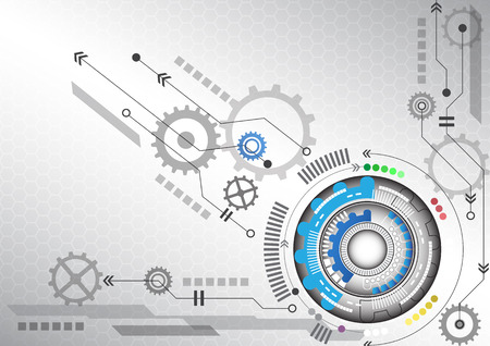 circuito integrado: futurista circuito de alta tecnología de antecedentes negocio de las computadoras