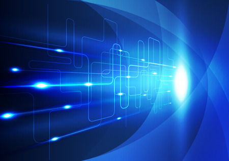 Résumé innovation technologique fond, illustration vectorielle Banque d'images - 32989770