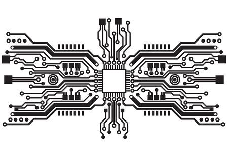 circuitos electricos: Tecnología abstracta textura de fondo de placa de circuito Vectores