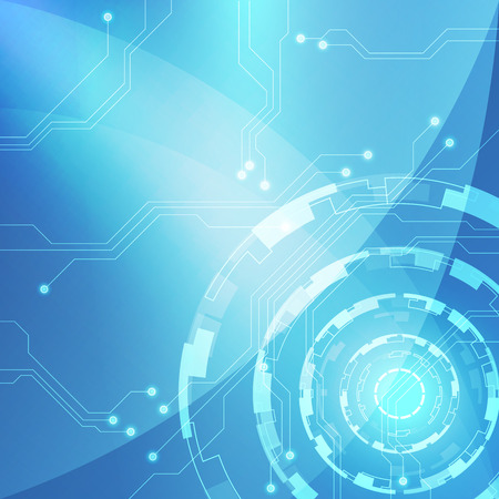 industrial automation: Blue Abstract technology circuit Background, vector illustration