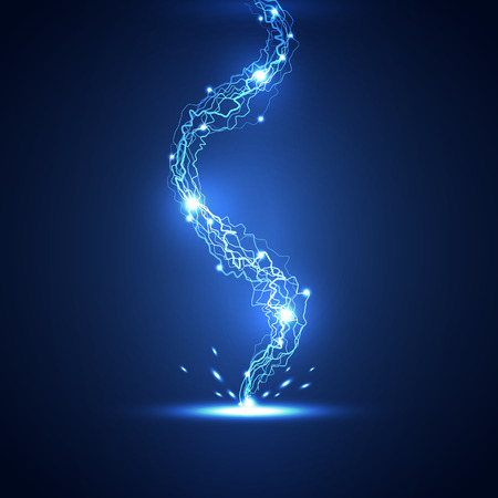 lightning: Abstract lightning technology background, vector illustration