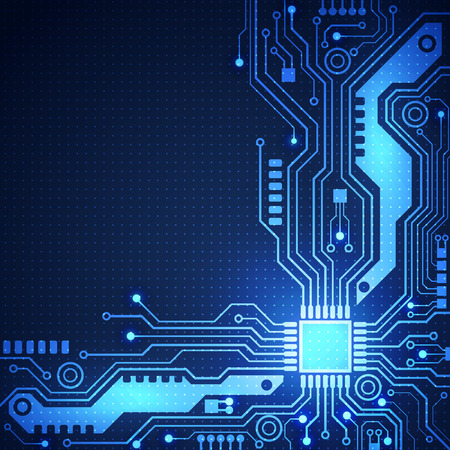 circuit board vector background, vector illustration