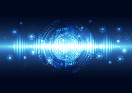 sonic: abstract technology background, vector illustration