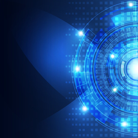 Abstract technology concept blue background